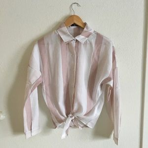 Tops - Pink striped shirt